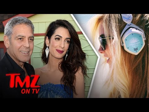 George And Amal Clooney's Twins Cause Flight Problems | TMZ TV