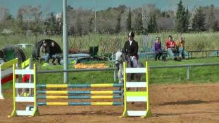 "Sagi Ottorgust riding Arthur through a 1.05m (3' 6"") jumping course on Friday 22.April 2011"