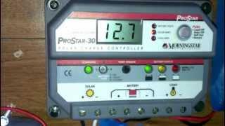 290 watt solar panel update with Morningstar 30