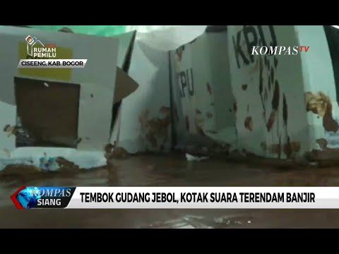 Ratusan Kotak Suara Rusak Terendam Banjir di Bogor