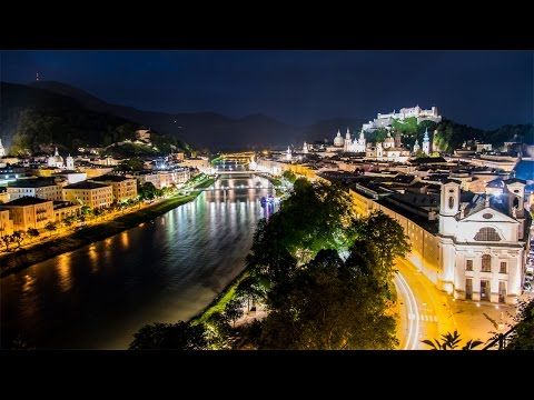 צפו ב נופי העיר זלצבורג היפה בשעות הלילה הקסומות