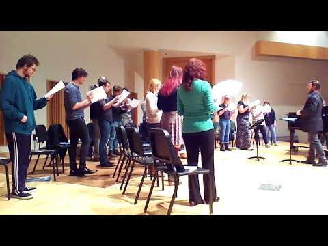 Here's me pranking the WSU Concert Chorale by sight reading