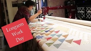 What A Longarm Quilting Work Day Looks Like.