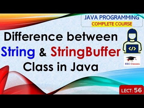 Difference between String and StringBuffer Class in Java | Java Lectures for Semester Exams in Hindi