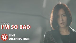 T-ARA - I'm So Bad : Line Distribution (Color Coded)