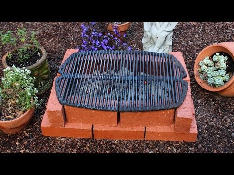 How to Make a Brick Grill – DIY Temporary Brick Hibachi Grill