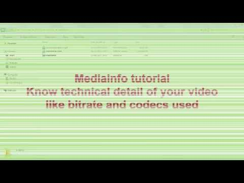 MediaInfo tutorial