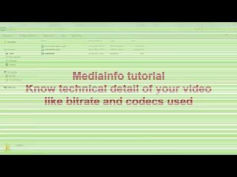 MediaInfo tutorial