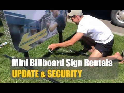 Our Mini Billboard Rentals Are Getting Sales!