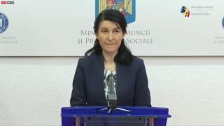 Ministrul Muncii Violeta Alexandru - declarații de presă privind șomajul tehnic