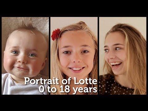 Vídeo Da Menina Lotte De 0 A 18 Anos Em 5 Minutos
