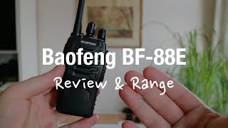 Baofeng BF-88e PMR Two Way Radio (Review And Range Test)