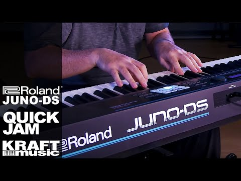 Roland JUNO-DS Synthesizer - Quick Jam with Scott Tibbs