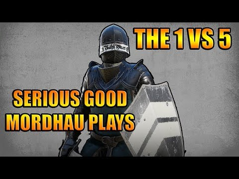 1 VS. 5  Mordhau ANTI-GANK - Bloodlust is awesome - Getting slowly confident being outnumbered
