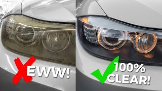 How To Clean & Restore Headlights - Remove Yellow, Foggy Headlight Oxidation!