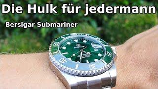 Bersigar / Pagani Design Submariner Hulk    hochwertige & günstige Rolex Submariner Hulk Hommage