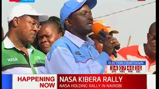 Kalonzo Musyoka's full speech during Kibera Rally