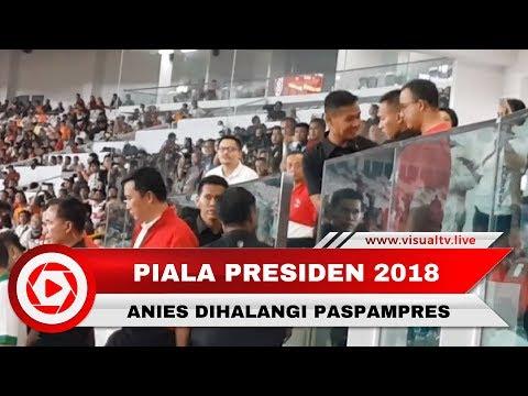 Viral! Video Anies Dihalangi Paspampres Menuju Podium Piala Presiden 2018