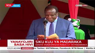 COG Chairman, Kakamega Governor Wycliffe Oparanya\'s speech during Madaraka day Celebrations
