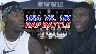 TOP RAP BATTLES | UK Drill Rapper vs. America