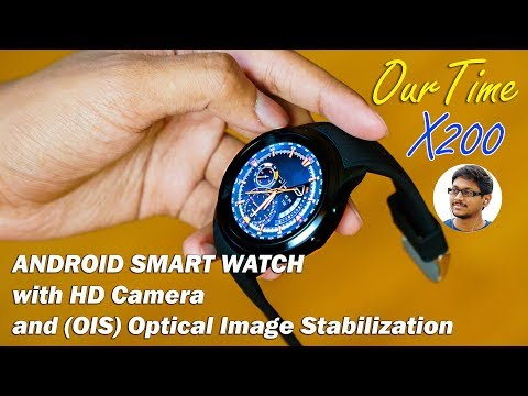 Android Smartwatch with HD Camera!! OurTime X200 Review