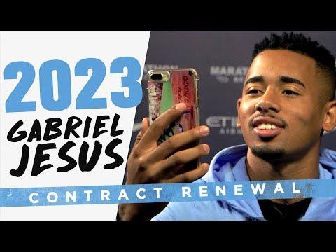 JESUS PHONES HIS MUM!   Gabriel Jesus signs new contract!