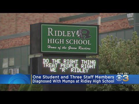 Ridley High School Warning Of Mumps Outbreak
