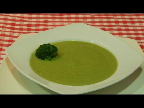 Cómo hacer crema de brócoli ligera / Receta fácil
