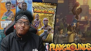 NBA Playgrounds - Pulled Another LEGEND!! HE MADE A CRAZY HALF COURT SHOT!! AD IS A DUNKING GOD!