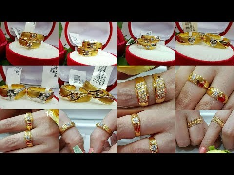 Gold Engagement Rings |Gold Couple Wedding Rings Designs