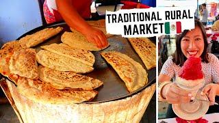 TRADITIONAL MEXICAN FOOD in OAXACA | Amazing OAXACAN STREET FOOD at OCOTLAN Market
