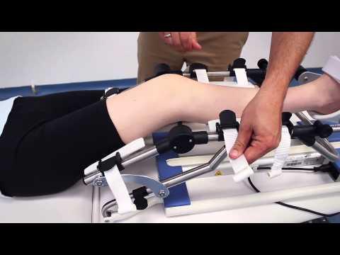 Reinigung Reinigung des Knies Knie