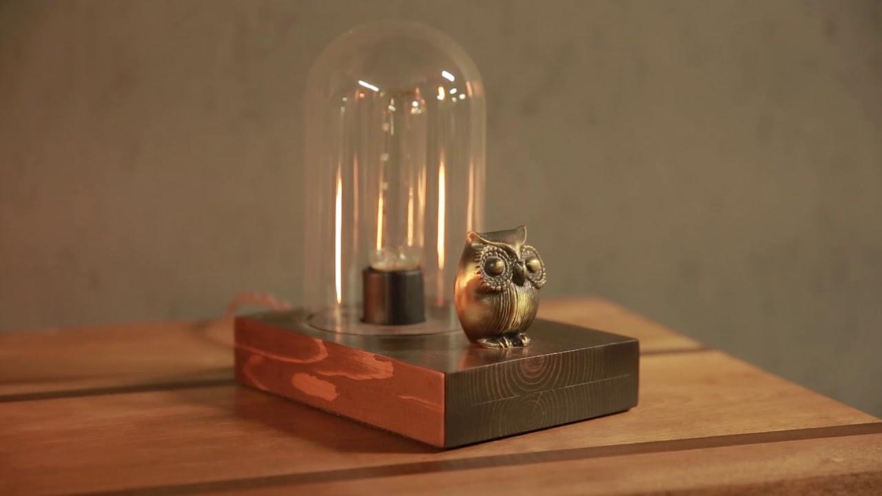 Mr. Owl // Touch Sensor Lamp video thumbnail