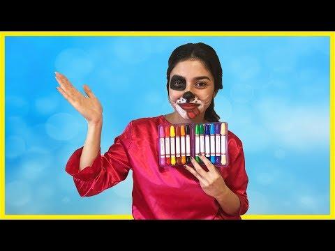Renkli Yüz Boyama Ile Köpek Oldum Boyama Eğlenceli çocuk Videosu