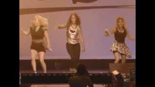 The Cheetah Girls performing at the Radio Disney's 10th Anniversary