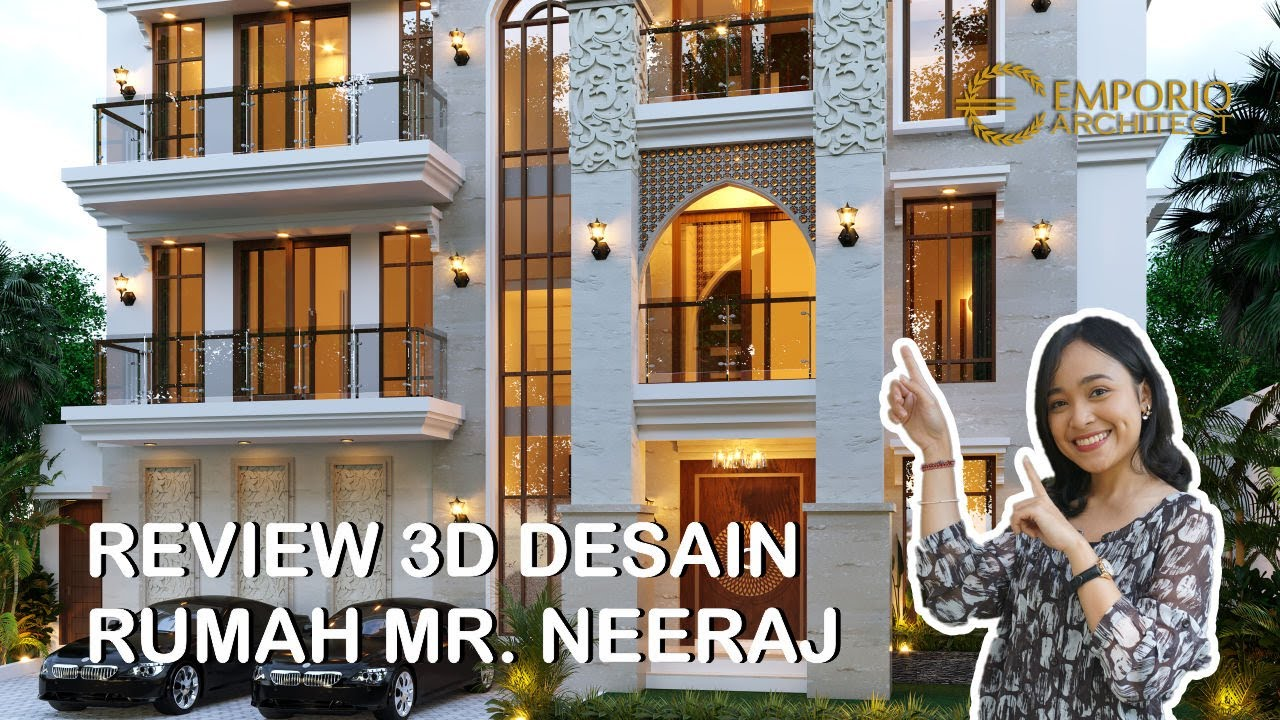 Video 3D Desain Rumah Villa Bali 3 Lantai Mr. Neeraj di Kathmandu, Nepal