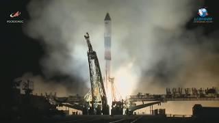 """Старт космического корабля """"Прогресс МС-10"""". Полное видео"""