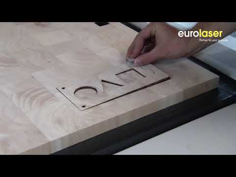 Laser cutting of balsa core material