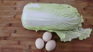 白菜加3个鸡蛋,是我过年必做拿手菜,怎么吃都不腻,越吃越过瘾