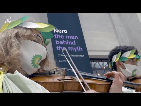 Dramatic protest at BP sponsored British Museum Nero exhibition