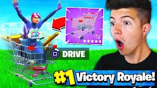 Using SHOPPING CARTS to WIN Fortnite Battle Royale!? (Fortnite Vehicles Update)