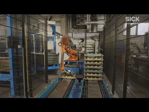 PLB robot guidance system positions exhaust manifolds at Georg Fischer (Austria) | SICK AG