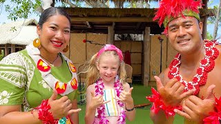 Nastya and Dad take a family trip to Hawaii