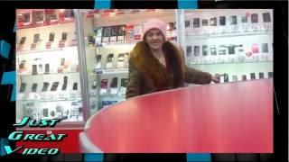 Бешеная бабка Прикол  Ржака Жесть Ржач Угар 2016