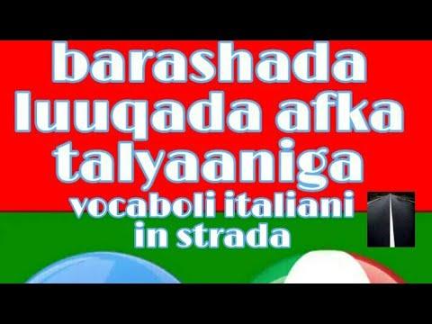 Barashada luuqada afka talyaaniga vocaboli italiani in strada