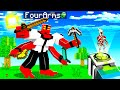 Playing as FOUR ARMS in MINECRAFT! (Ben 10)