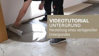 Verlegereifen Untergrund herstellen | Untergrund mit Nivellierspachtelmasse angleichen