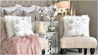 NEW! Luxury Master Bedroom Blush Pink Christmas Tour & Decor Ideas
