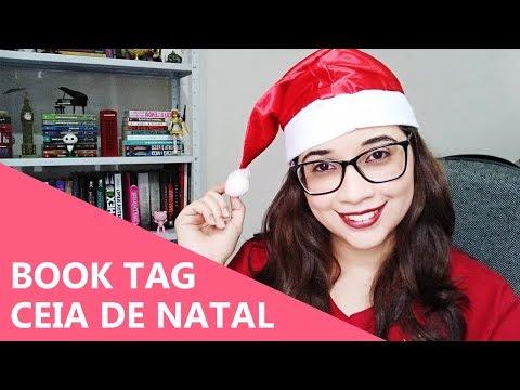 CEIA DE NATAL COM LIVROS - BOOK TAG ?? | Biblioteca da Rô
