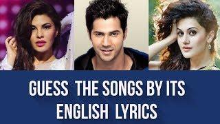 Guess the Song by its English Lyrics   Bollywood   #2